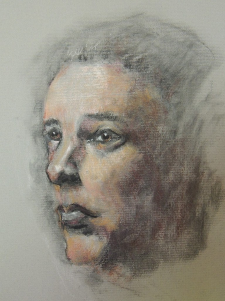 Study of a Woman Pastel, 16x12, $450